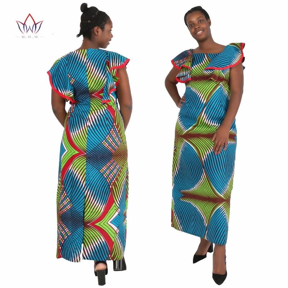 6accd9695e3a Summer Women Dress Traditional African Clothing Custom Made Butterfly  Sleeve Long Dress African Women Dress WY178