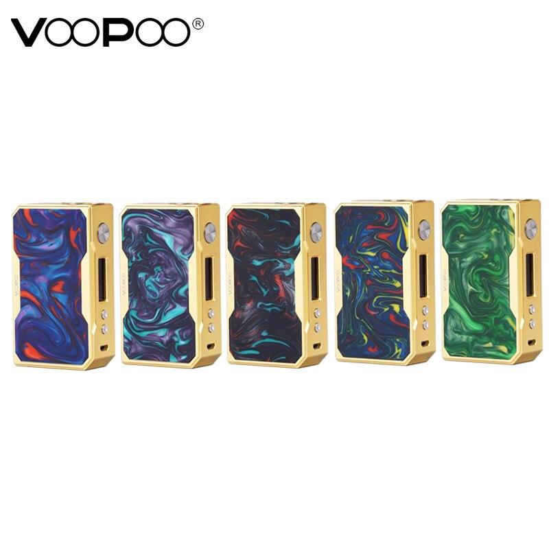 Cigarrillo electrónico Original Voopoo arrastrar X007 caja Mod 510 hilo Vape Mod alimentado por batería 18650 para E-cigarrillo Vaper de Vapor