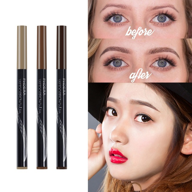 PHOERA  Double Head Eyebrow Pencil  Tattoo Pen With Brush 5