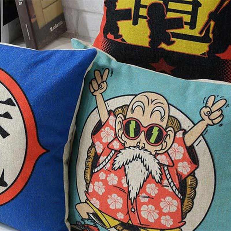 דרקון אנימה היפני כדור מודפס כיסוי כרית כיסוי כרית ספת מקרה כרית הבית דקורטיבי Cojines Decorativos Para Almofada
