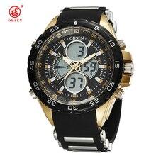OHSEN Мужские Часы Лучший Бренд класса люкс relogio masculino цифровой спортивные часы для мужчин Мода Повседневная Кварцевые часы Часы Мужчины 'ы