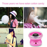 Household Electric Cotton Candy Maker Machine Electric DIY Sweet Mini Portable Cotton Suager For Children Girl