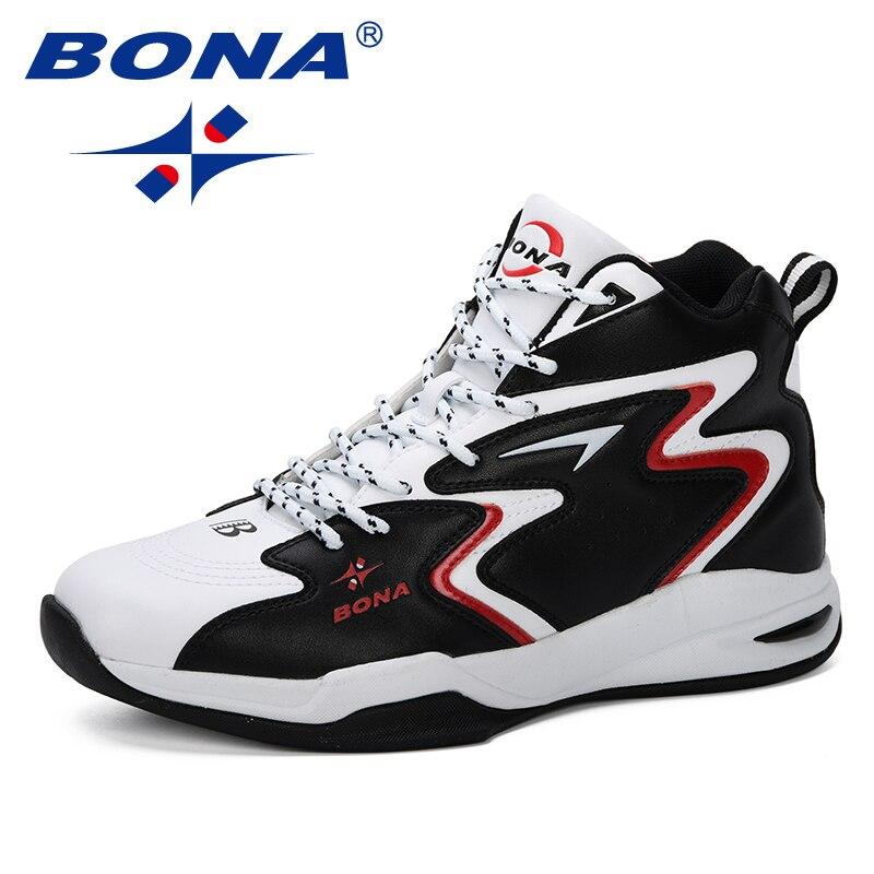 BONA 2019 nouveau populaire semelle épaisse hommes chaussures de Basket-Ball chaussures de Sport masculin chaussures de plein air garçons Basket-Ball chaussures hommes
