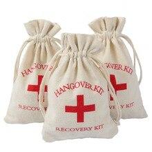 New Wedding Hangover Kit Bags 10*15cm Burlap Jute Favor Gift Bag Bachelorette Event Party Decorations