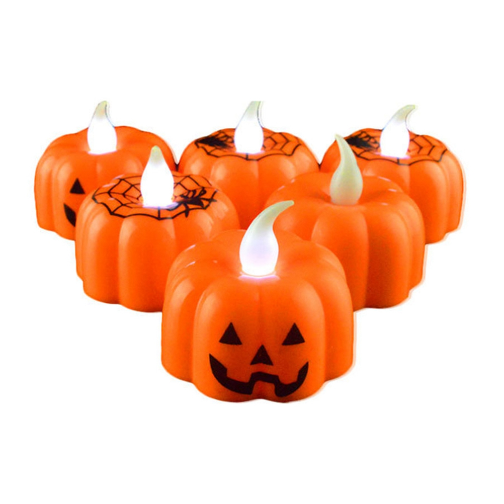 1 PC Candle Lantern Pumpkin Lamp Classic LED Light Indoor Halloween Festival Party Decorative Atmosphere Light (Random)(China)