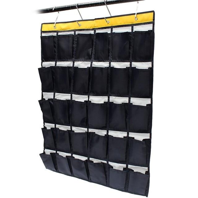 30 Blanks Organizer Over Door Hanging Bag Oxford Shoe Toys Hanger