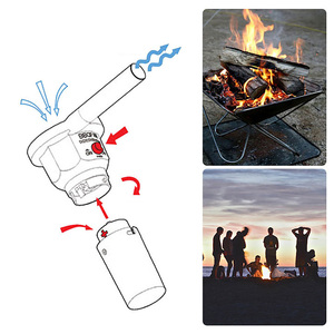 Portable Battery Powered Electric BBQ Fan Air Blower for Outdoor Camping Picnic Use Charcoal Grill Barbecue Fan