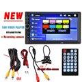 2 Din Car Radio Reproductor de Vídeo 7 ''HD de Visión Trasera Bluetooth FM estéreo MP3 MP4 MP5 Audio AUX USB Electrónica de Automóviles autoradio 7018B