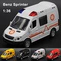 1:36 Diecasts Liga Modelo de Carro Mercedes-Benz Sprinter Carro Brinquedo Do Menino hot wheels cars crianças toys para crianças máquinas toys para meninos