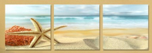 цены 3 panels Wall Art Modern Print Canvas Paintings Sea Beach Shell Starfish Wall Pictures For Home Decor
