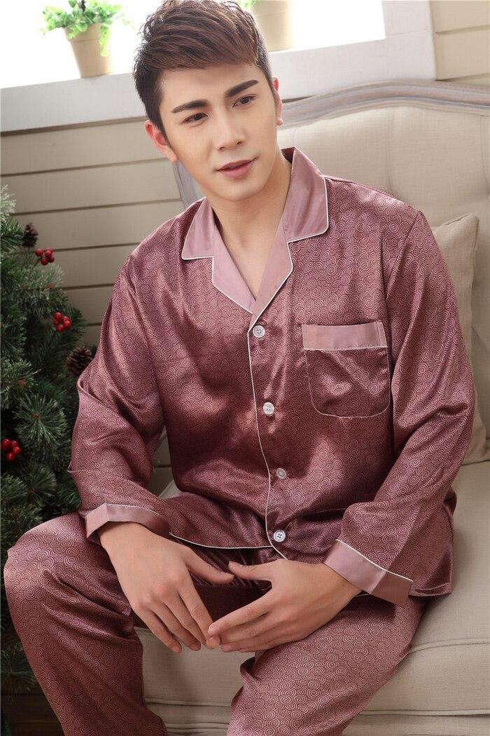 Online Buy Wholesale mens silk pajamas from China mens silk ...