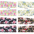 Flower Water Decals Elegant Floral Nail Art Full Transfer Stickers 4 Patterns/sheet C148-C151 # 20320