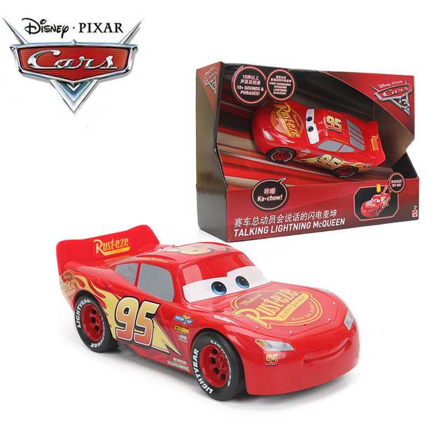 Disney Pixar Cars 3 New Electronic Talking Lighting Mcqueen Abs Car Toys Cast Model For