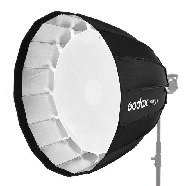 Godox przenośny P90h 90CM głębokie paraboliczne Softbox Bowens zamontować błyskanie studyjne Speedlite reflektor Photo studio Softbox