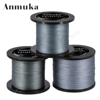 Anmuka 1000M Multifilament PE Braided Fishing Line 0 4 8 0 12 72LB Super Strong Braided