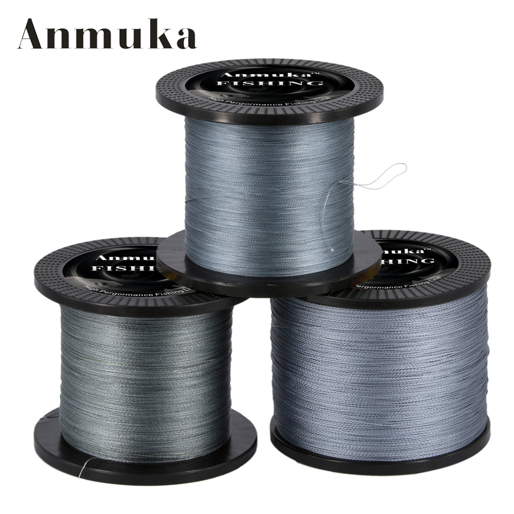 Anmuka 1000M Multifilament PE Braided Fishing Line 0.4-8.0# 12-72LB Super Strong Braided Line Fishing Lines Tackle pesca