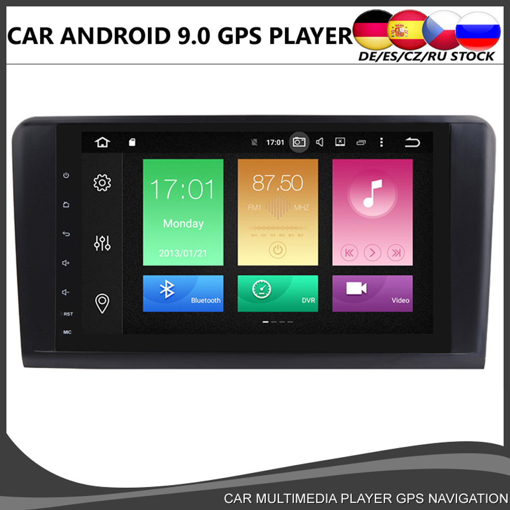 Octa core 9''Android 10.0 Car DVD Radio For Mercedes Benz For ML/G Class ML320 ML350 ML500 X164 W164 GL320 GL350 4GB+64GB Wifi image