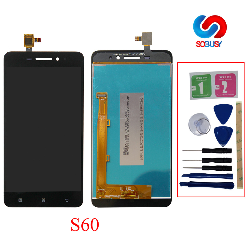 Original 5.0 For Lenovo S60 S60W S60A S60-A S60T Lcd Display Digitizer TouchScreen Panel Assembly Tela+Frame Replacement Parts image