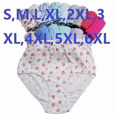 Varejo de alta cintura super grande para a gordura mulheres briefs lady underwear lingerie de algodão s, m, l, xl, 2xl, 3xl, 4xl, 5xl, 6xl