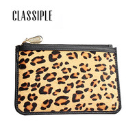 Womens Wallets Female Coin Purse Women Genuine Leather Leopard Wallet Female Girl Wallet Zipper Ladies Coins Purses Portefeuille