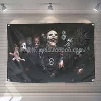 SKINHEAD Heavy Metals Rock Music Banners Hanging Flag Wall Sticker Cafe Restaurant locomotive club Live Background Decoration