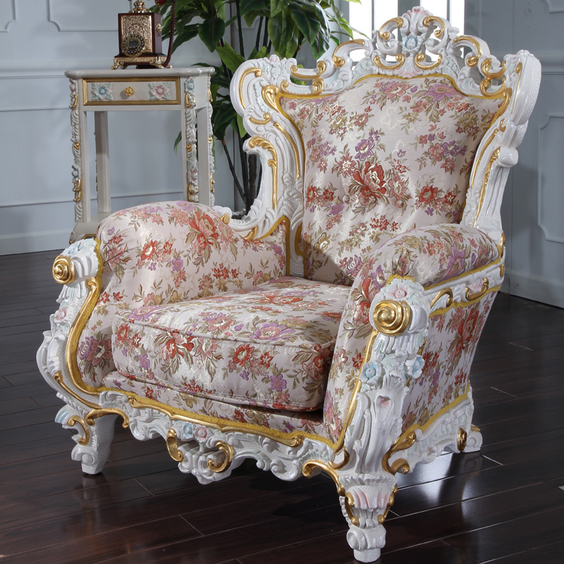 Baroque style sofa ornate baroque sofa model cgtrader for Baroque living room furniture