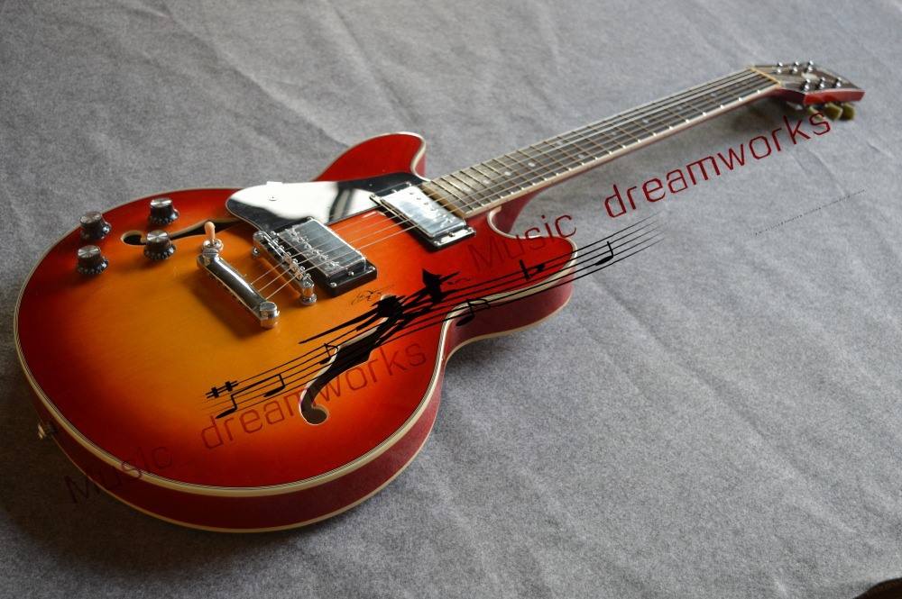 China OEM firehawk guitar electric guitar hollow jazz guitar The left hand guitar, color can be changed human free shipping guitar electric guitar suitcase electric guitar hollow body guitar left hand