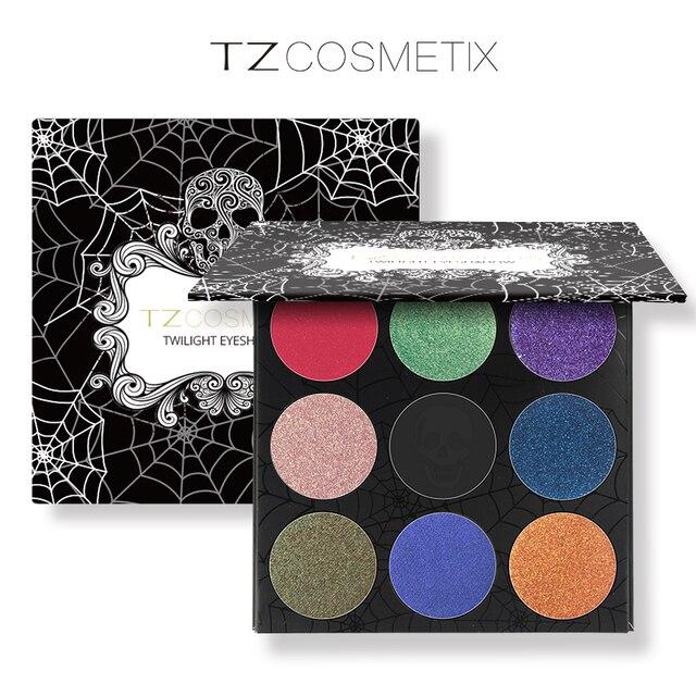 TZ Marca Altamente pigmentadas 9 Colores Paleta de Sombra de ojos Mate Frustrado Se Ruboriza Paleta de Maquillaje de Sombra de Ojos Del Brillo Del Diamante Diseño Fresco