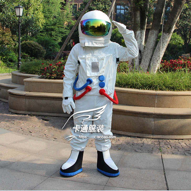 Astronaut Cosplay Costume with Helmet for Children Adult Spacesuit Universe Star Party Clothes Performance Props Halloween Dress