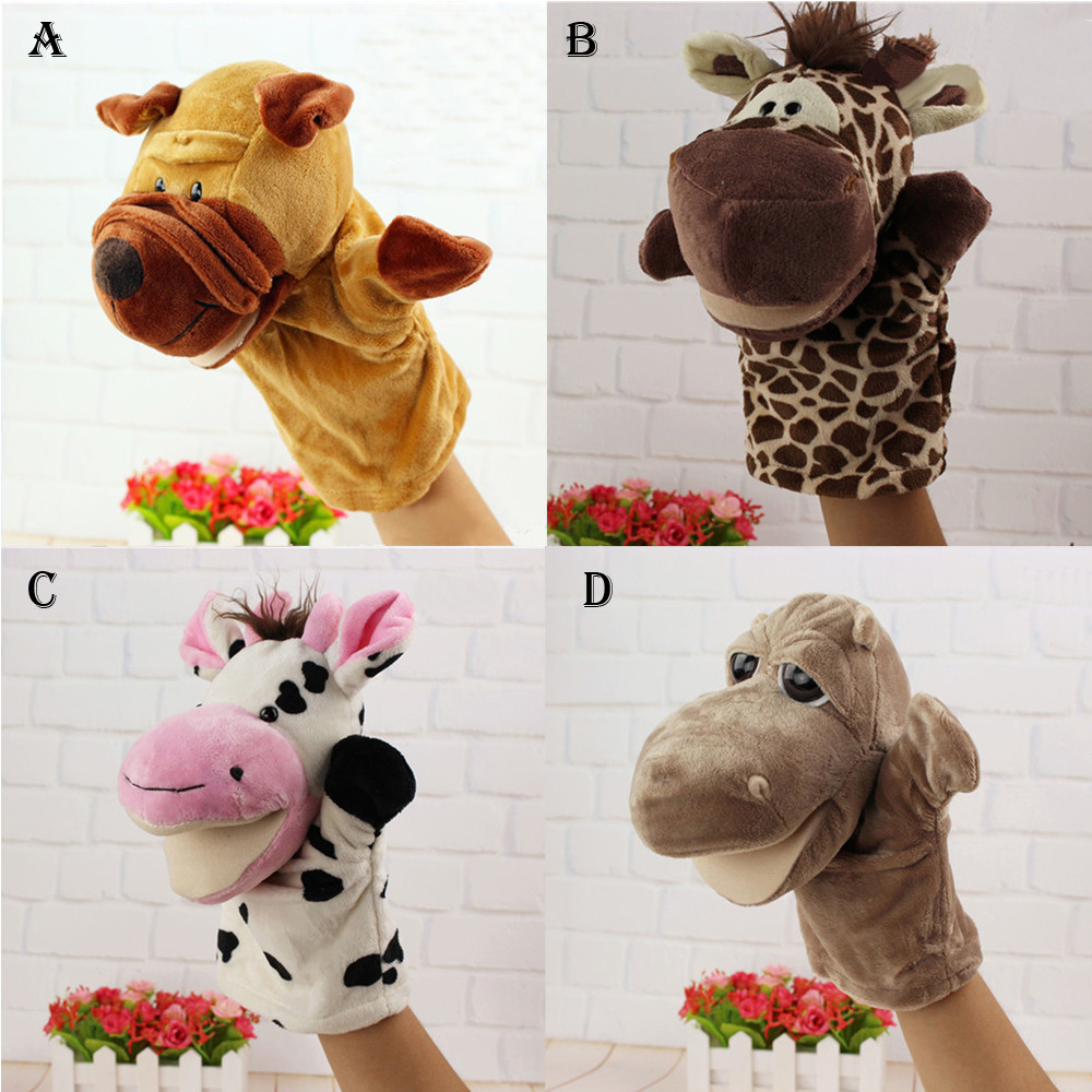 2018 New Fashion Cute Cartoon Animal Doll Kids Glove Hand Puppet Soft Plush Toys Story Telling With High Quality Hot Sale#