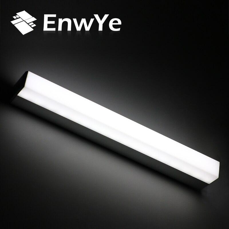 Işıklar ve Aydınlatma'ten LED İç Mekan Duvar Lambaları'de EnwYe Modern LED ayna işık 12 W 16 W 22 W su geçirmez duvar lamba aksesuarı AC220V 110 V Akrilik duvara monte edilmiş banyo aydınlatma BD70 title=