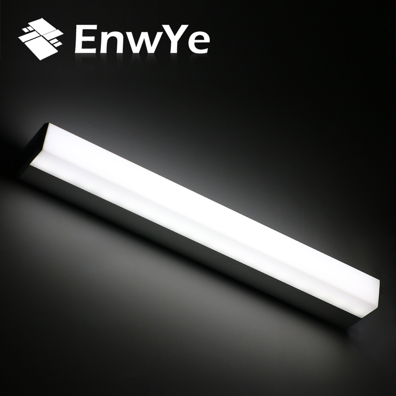 EnwYe Modern LED mirror light 12W 16W 22W waterproof wall lamp fixture AC220V 110V Acrylic wall mounted bathroom lighting BD70 38cm 58cm led mirror light 12w or 18w waterproof wall lamp fixture ac110v 220v acrylic wall mounted bathroom lighting free ship