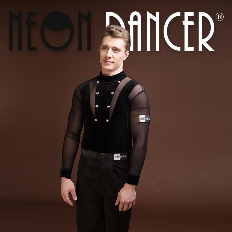Personnalisé nouveaux hommes Latin danse body chemise importé velours maille costume livraison gratuite