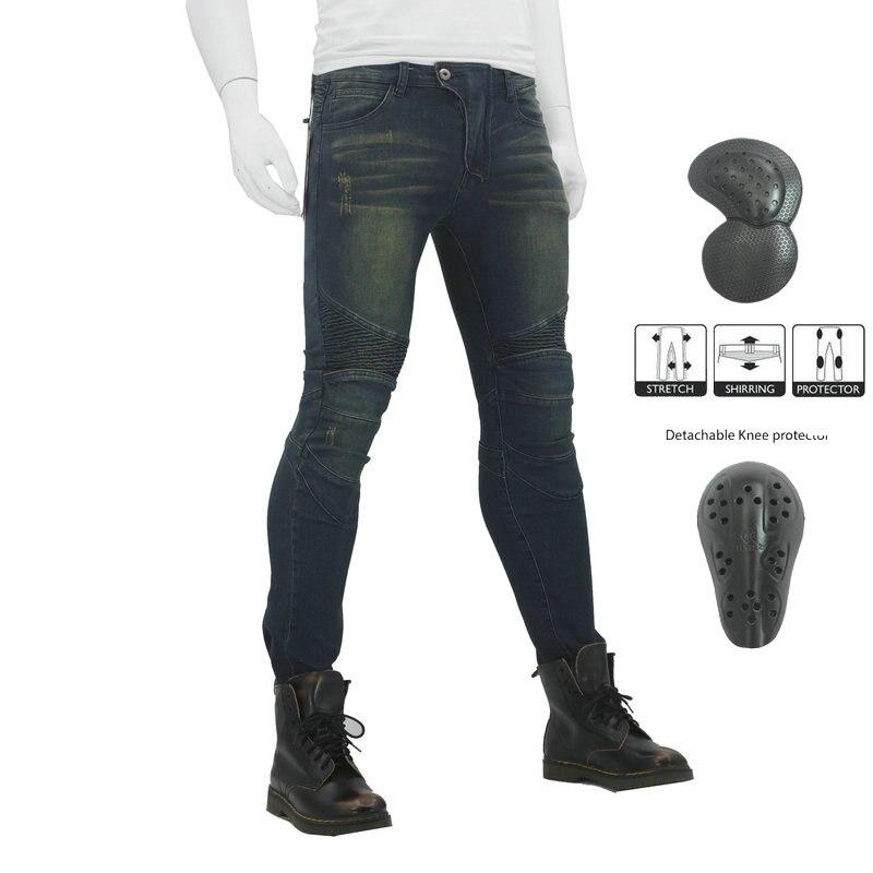 2019 nouveau pantalon de Moto hommes Moto Jeans Zipper équipement de protection équitation Touring Moto pantalon Motocross pantalon Moto