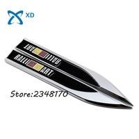 2pcs Lot Car Door Protector Fender Side Emblem Badge Stickers Blade Shape Decorative Decal For Mitsubishi