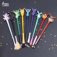 Wholesale 9pc 2017 New Design 9 Style Pokemon GO Jewelry Makeup Brush Lovely Animals Women Jewelry