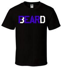 Fear The Beard T-Shirt Black PurpleWhite Gang Mustache  All Sizes S-2XL Men Summer Short Sleeves T Shirt
