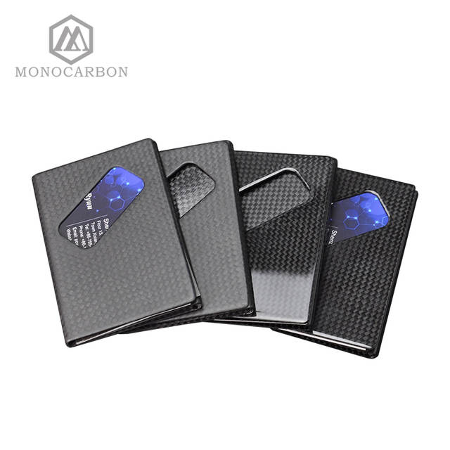 ba41dd7544cd Newest Design Deluxe Real Pure Carbon Fiber Name Business Card Holder