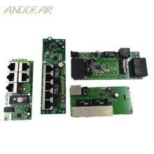 Calidad OEM, mini placa base, precio, módulo de interruptor de 5 puertos, placa PCB de la empresa manufaturer, módulo de interruptores de red ethernet de 5 puertos