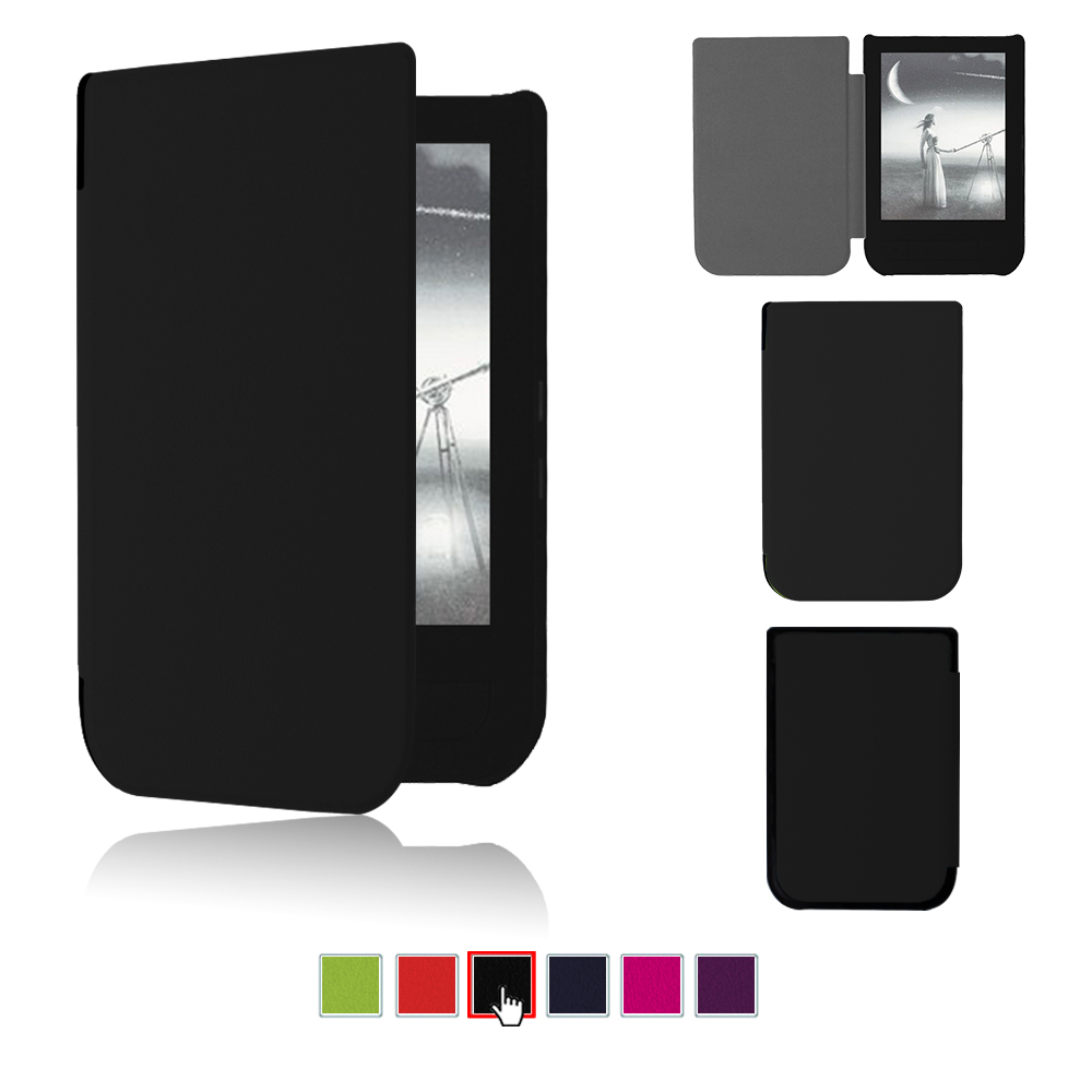 Auto Sleep Smart PU Leather Cover Case For 2016 Pocketbook Touch HD 6 Inch Ereader Case
