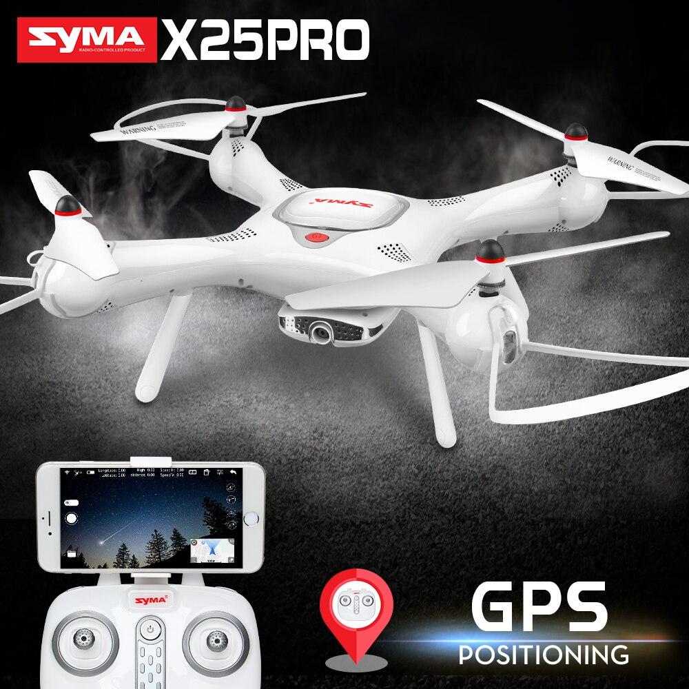 Nueva llegada SYMA X25PRO Drone con 720 p cámara HD Quadcopter Drone GPS FPV transmisión RC helicóptero Quadcopter Drones Dron