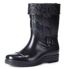 Новые зимние теплые модные Нескользящие непромокаемые сапоги мужские непромокаемые сапоги-трубы обувь для рыбалки резиновая обувь рабочие сапоги для кухни, для мытья автомобиля