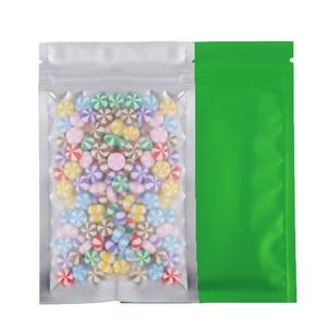 Image 5 - Various Sizes Colors 100x Matte Translucent Flat Zip Bag Clear Front Heat Sealing Foil Mylar Zip Lock Storage Bags w/ Tear Notch