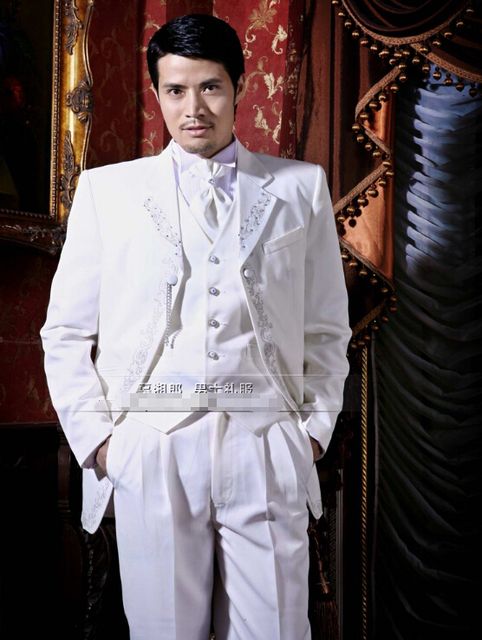 Customize Groom Suit Elegant Gentleman A Wedding Reception Gown