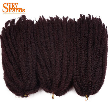 Silky Strands Marley Braids Hair Crochet Ombre Afro Kinki Kanekalon Synthetic Braiding Hair Crochet Braids Hair Extensions Bulk