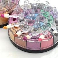 Brand 24 Colors Glitter Eyeshadow Powder Naked Palette Dark Smoky Eyes Flower Mineral Pigment Shimmer Eye