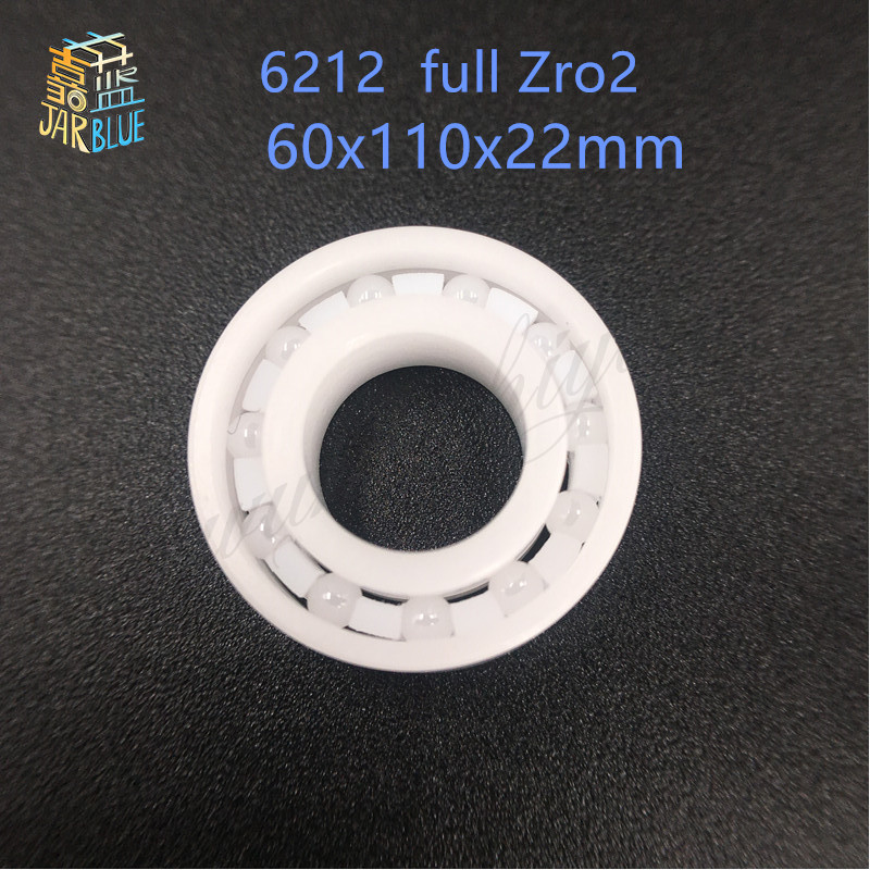 Free shipping 6212 full ZrO2 ceramic deep groove ball bearing 60x110x22mm good quality 627 full zro2 ceramic deep groove ball bearing 7x22x7mm good quality