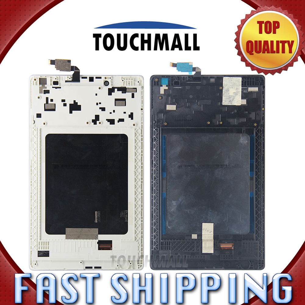 For New LCD Display Touch Screen + Frame Assembly Replacement Lenovo Tab 2 A8-50 A8-50F A8-50LC 8-inch Black White Free Shipping new a8 3 three frame a8 function of supporting frame 86 outlet switch combination surface box