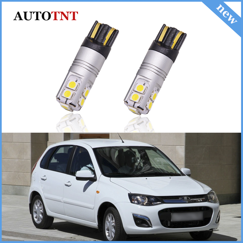 Canbus No Error T10 W5W LED lamps Clearance Parking Lights For Lada 2110 2111 2112 <font><b>2113</b></font> 2114 2115 4X4 3D Granta liftback image