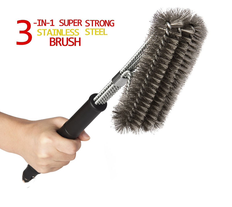 US $6.99 |3in1 360 Degree Clean Grill Brush Best BBQ Grill Brush Stainless Steel Brush Cleaner Provide Effortless Clean Grill Accessories|Other BBQ